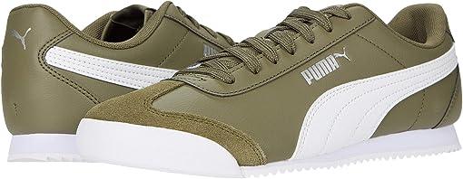 Burnt Olive/Puma White/Puma Silver