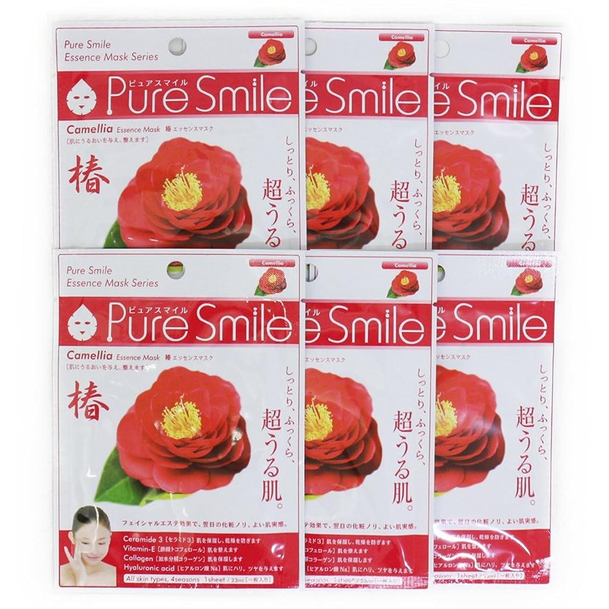 聴衆同行効率的にPure Smile ピュアスマイル エッセンスマスク 椿 6枚セット