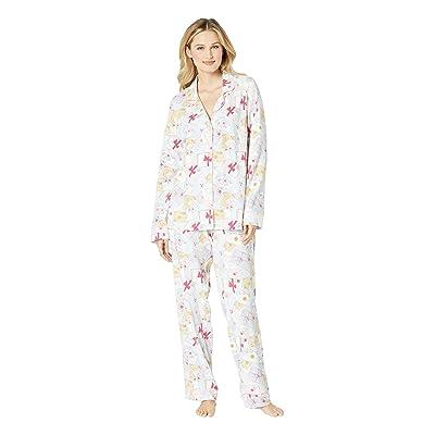 BedHead Pajamas Long Sleeve Classic Notch Collar Pajama Set (Love Letters) Women