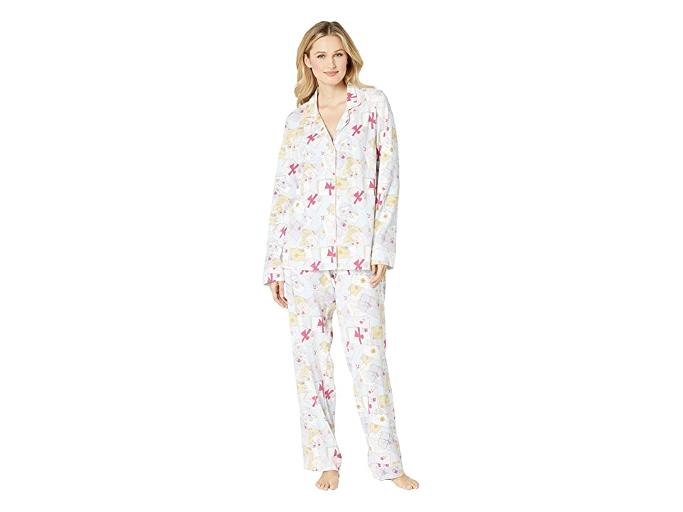 BedHead Long Sleeve Classic Notch Collar Pajama Set (Love Letters) Women
