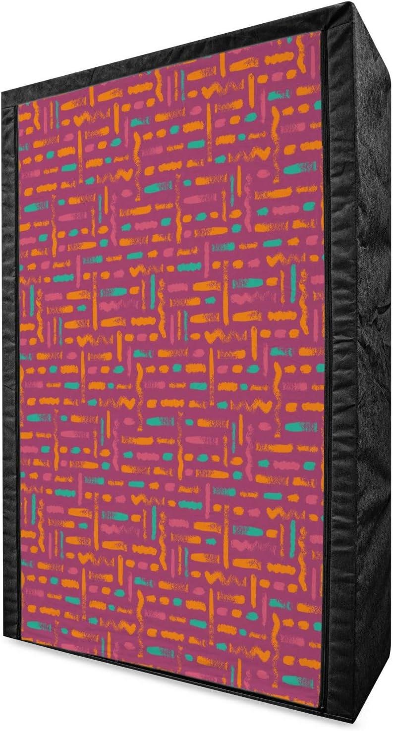 Ambesonne New Shipping Free Shipping Abstract Portable Fabric Wardrobe Image Nashville-Davidson Mall of Horizontal