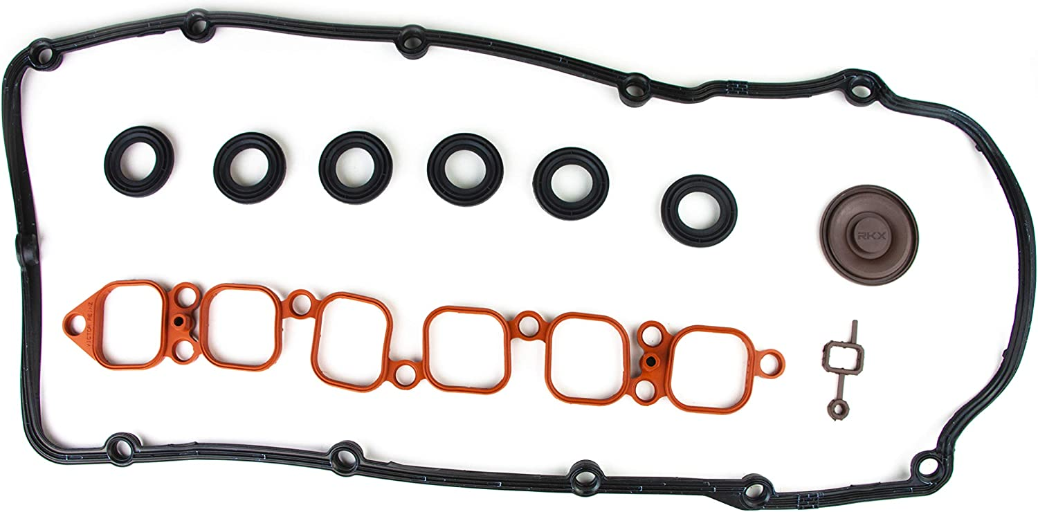 RKX 3.6 L PCV Engine Valve Cover 2 Piece Intake manifold gasket set for VW