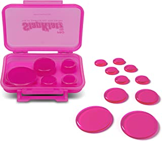 SlapKlatz Pro - Pink | 10 Pieces of Superior Drum Gel Dampeners in 3 Sizes | FREE rugged case included | Non-toxic