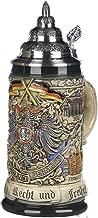 Beer Steins By King - Deutschland German Coat of Arms Beer Mug 0.5l Rustic