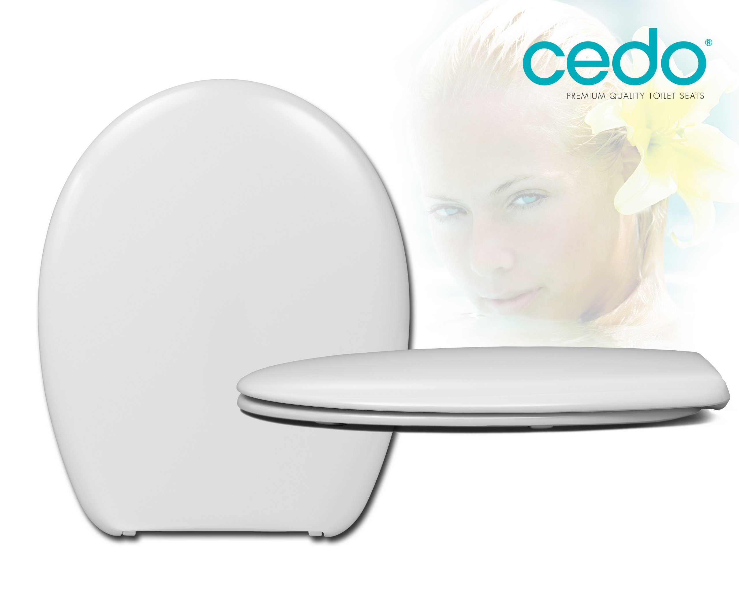 polipropileno y Soft Close Take Off Blanco Cedo 534386/asiento de inodoro universal