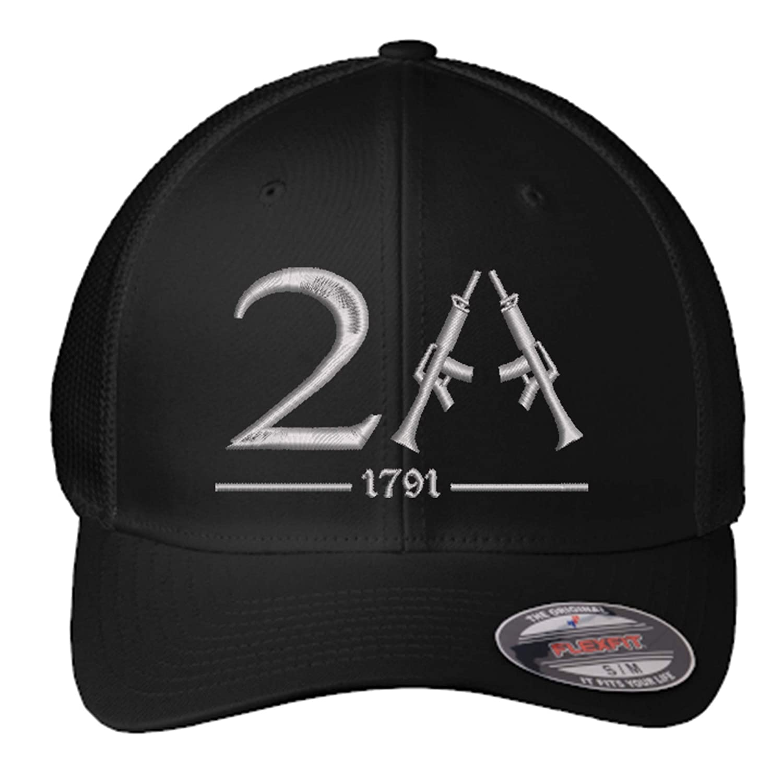 OFFicial store 2A Hat with Rifles Custom San Diego Mall Amendment 2nd Se FlexFit