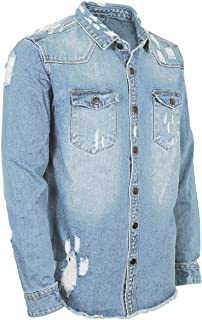 Yoaims Denim Jacket Big V Men Women Long Sleeve Personalized Fashion Mens BL46
