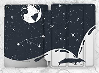 Blue Space Whale Constellation Case For Apple iPad Mini 1 2 3 4 5 iPad Air 2 3 iPad Pro 9.7 10.5 11 12.9 inch iPad 9.7 inch 2017 2018 2019