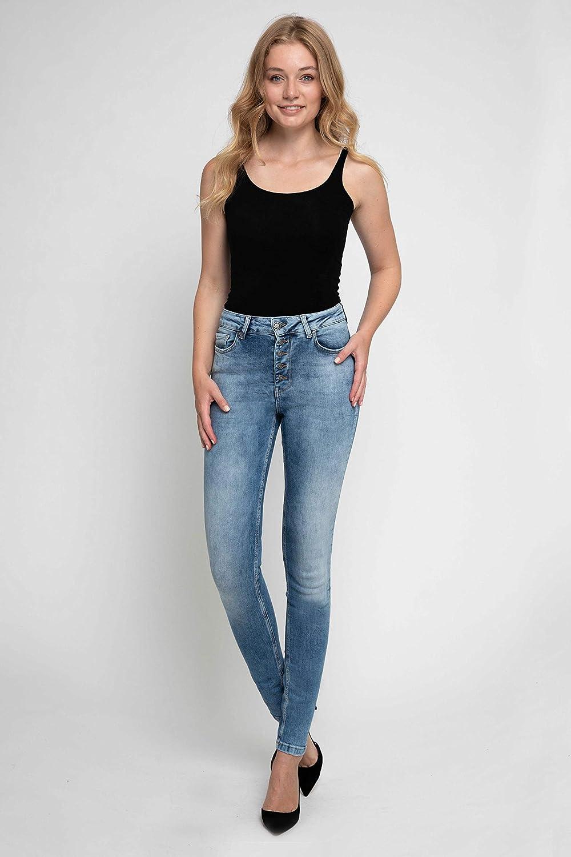 Zhrill Leona Button Pantalon pour Femme W7389 - Blue