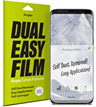 Ringke Dual Easy Film (2 Pack) Compatible with Galaxy S8 Plus High Resolution Anti-Smudge Coating Easy Application Case Friendly Screen Protector for Galaxy S 8 Plus