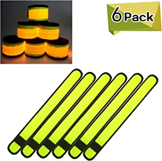 LED Armbands Slap Bracelets Wristbands Flashing Sports Pack of 6/7 Glow Party Supplies for Lives, Festivals Running Parties Night Events 13.75 x 1.57 Inch