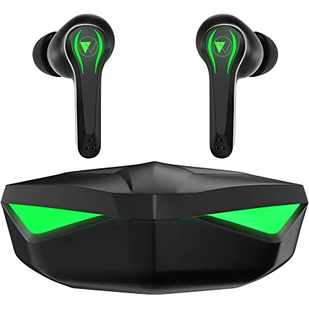 Wings Phantom Gaming True Wireless Earbuds, Bluetooth 5.0 Earphones, Less Than 65ms Latency, Gaming Mode, Crystal Clear MEMS Mic Quality, Full Touch Controls, 20 Hours Playtime, Type C Charging