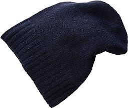 Cashmere Slouchy/Cuff Hat