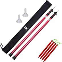 SaphiRose Adjustable Tarp Poles Set of 2 for Tents,Camping,Shelters,Hiking,Awnings