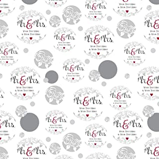 GRAPHICS & MORE Personalized Custom 2 Lines Mr and Mrs Wedding Premium Gift Wrap Wrapping Paper Roll