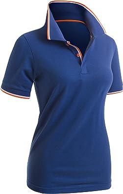 CLOVERY Women's Polo Shirts Short Sleeve Point Design Shirt