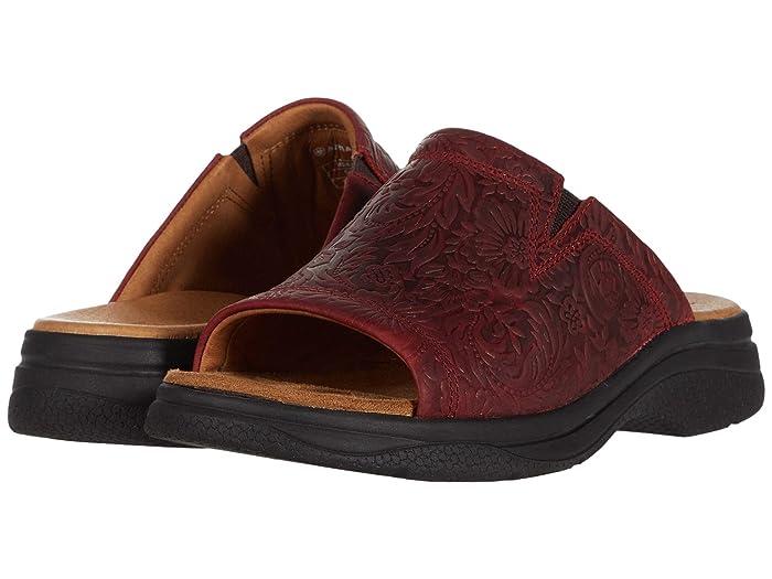 Ariat  Bridgeport Sandal (Red Floral Emboss) Womens Sandals
