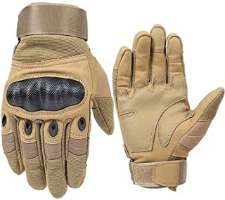 Motorcycle Gloves, Breathable Unisex All-around Motorcycle Gloves Men, Fashion Outdoor Racing Motorcycle Gloves for Off-road Motorcycle Beach Riding motorcycle equipment ( Color : Khaki , Size : L )