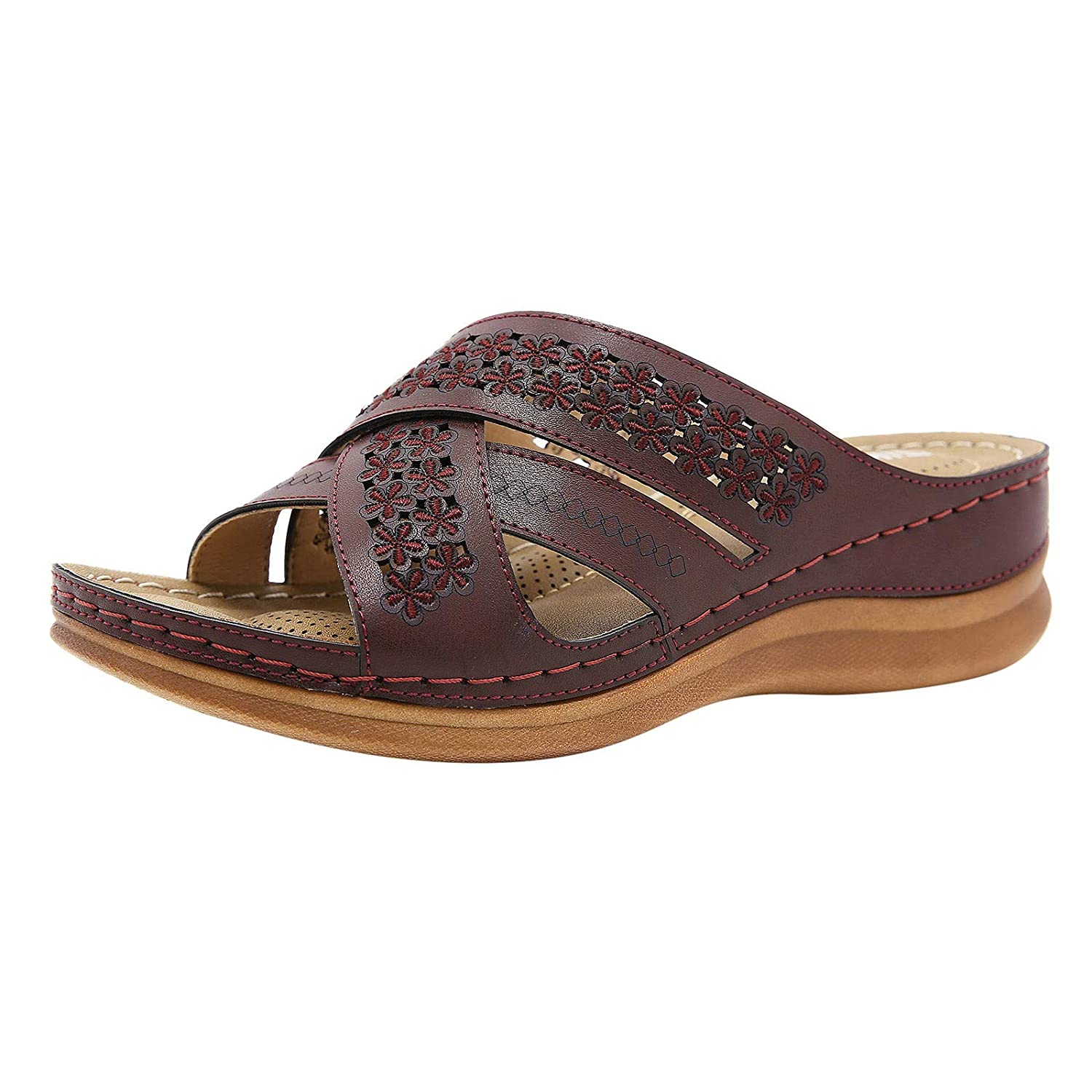 Women's Sandals Outdoor Slippers Anti Max 48% sale OFF Slip Casual Toe Beach Open