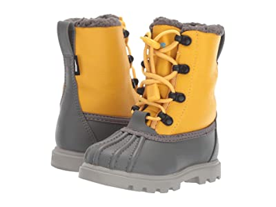 Native Kids Shoes Jimmy 3.0 Treklite (Toddler/Little Kid) (Dublin Grey/Alpline Yellow/Pigeon Grey) Kids Shoes