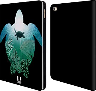 Head Case Designs Turtle Animal Double Exposure Leather Book Wallet Case Cover Compatible for iPad Air 2 (2014)