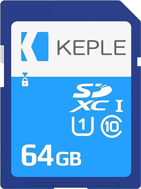 Keple 64GB 32Go SD Tarjeta de Memoria di Quick Speed SD Card Compatible con Canon EOS 70D 6D 100D 600D 1100D 1200D 60D 550D EOS 700D SLR Digital Kamera | 64GB UHS-1 U1 SDXC Karte