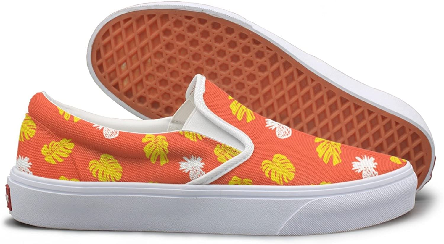 Casual Tropical Fruits Pineapple And Leafs Womens Canvas shoes