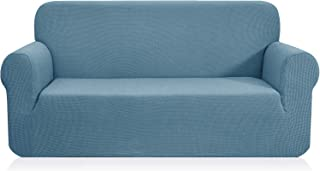 CHUN YI 1-Piece Jacquard High Stretch Sofa Slipcover, Polyester and Spandex 3 Seater Cushion Couch Cover Coat Slipcover, Furniture Protector Cover for Sofa and Couch (Sofa, Smoky Blue)