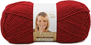 Lion Brand Yarn 861-114 Vanna's Glamour Yarn, Red Stone