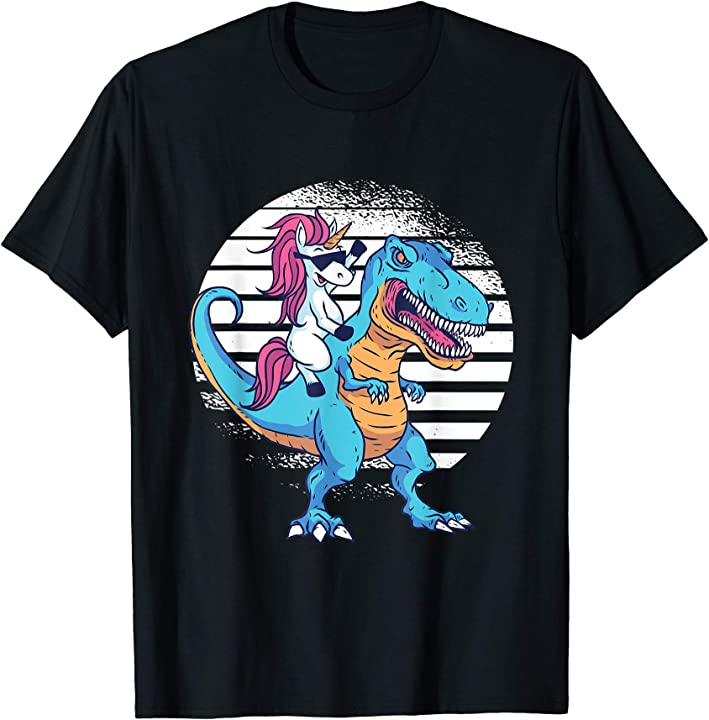 Unicorn riding a T-rex Graphic  T-Shirt