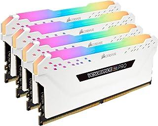 Corsair CMW64GX4M4C3200C16W VENGEANCE RGB PRO 64GB (4x16GB) DDR4 3200 (PC4-25600) C16 Desktop memory White