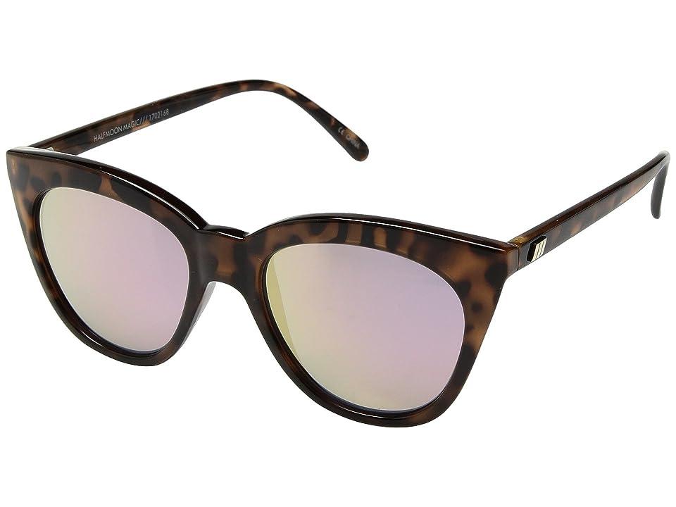 Le Specs Halfmoon Magic (Tortoise/Pink Mirror) Fashion Sunglasses