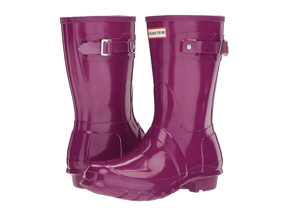 Hunter Original Short Gloss Rain Boots (Violet) Women