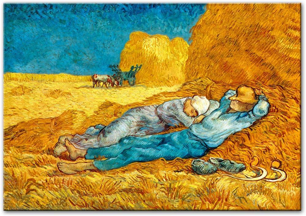 ZL Van Gogh Popular overseas Lunch Break Canvas Painting P Prints Art Modern Brand Cheap Sale Venue Wall