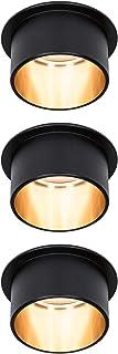 Paulmann 933.79 93379 LED Gil 3 étapes de dim rond avec 3 x 6 W à intensité variable-Noir mat et doré-Spot encastrable en ...