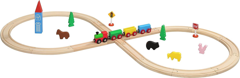 Maxim Enterprise 50052 Figure 8 Wooden Train Set, Thomas and Friends Brio Compatible, 32Piece