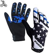 shubiao 1pcs Motocross Race Gloves Mountain Dirtbike Cycling Sports Gloves Moto Guantes de Moto Azul S
