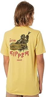 Swell Boys Boy's Grim Ripper Tee Short Sleeve Cotton Yellow