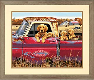 Dimensions Golden Retriever Truck Ride Paint by Numbers for Adults, 20'' W x 16'' L