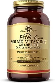 Solgar Ester-C Plus 500 mg Vitamin C (Ascorbate Complex), 250 Vegetable Capsules - Gentle & Non Acidic - Antioxidant & Imm...