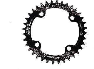 バイククランク チェーンリング 104BCD 狭い 広い ラウンド アルミ合金 シングル 32T 34T 36T 38T 40T 42T 黒