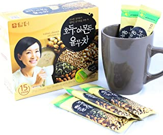 DAMTUH Walnut Almond Adlay Tea (Job's Tear), All Natural Tea Powder, 15 Sticks