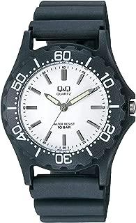 Q&Q Men's White Dial Resin Band Watch - VP02J005Y