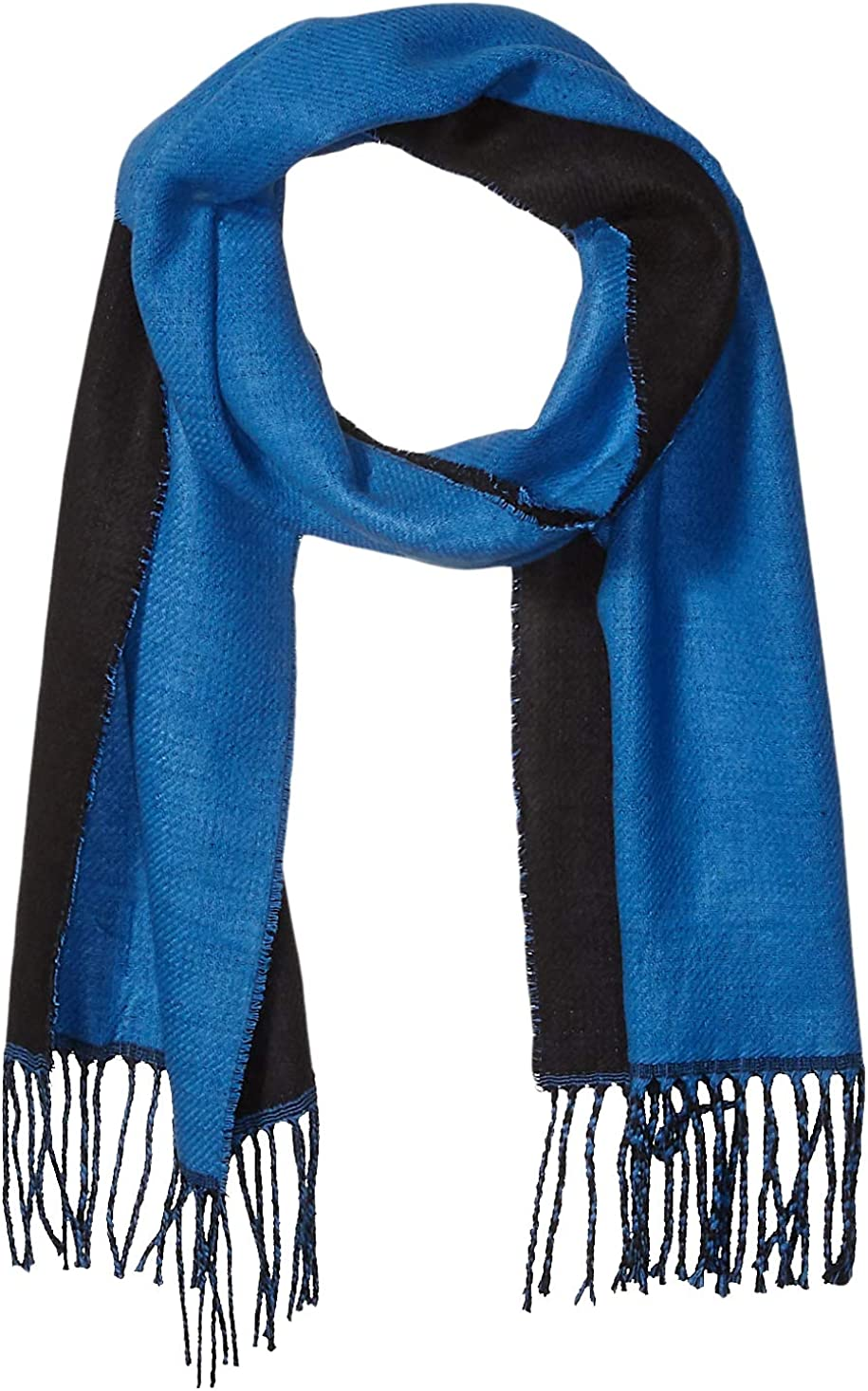 Calvin Klein Ranking TOP18 Max 40% OFF womens Dbl Faced Patch Woven Scarf