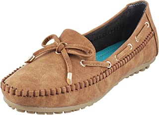 Metro Women Tan Synthetic Loafers (31-8093)