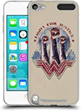 Official Wonder Woman Movie Fight for Justice Distressed Art Soft Gel Case Compatible for Apple iPod Touch 5G 5th Gen