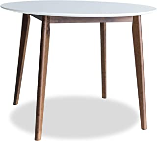 Edloe Finch Round Dining Table 40 inch diameter White Top