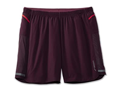 Brooks Sherpa 7 2-in-1 Shorts (Sangria) Men