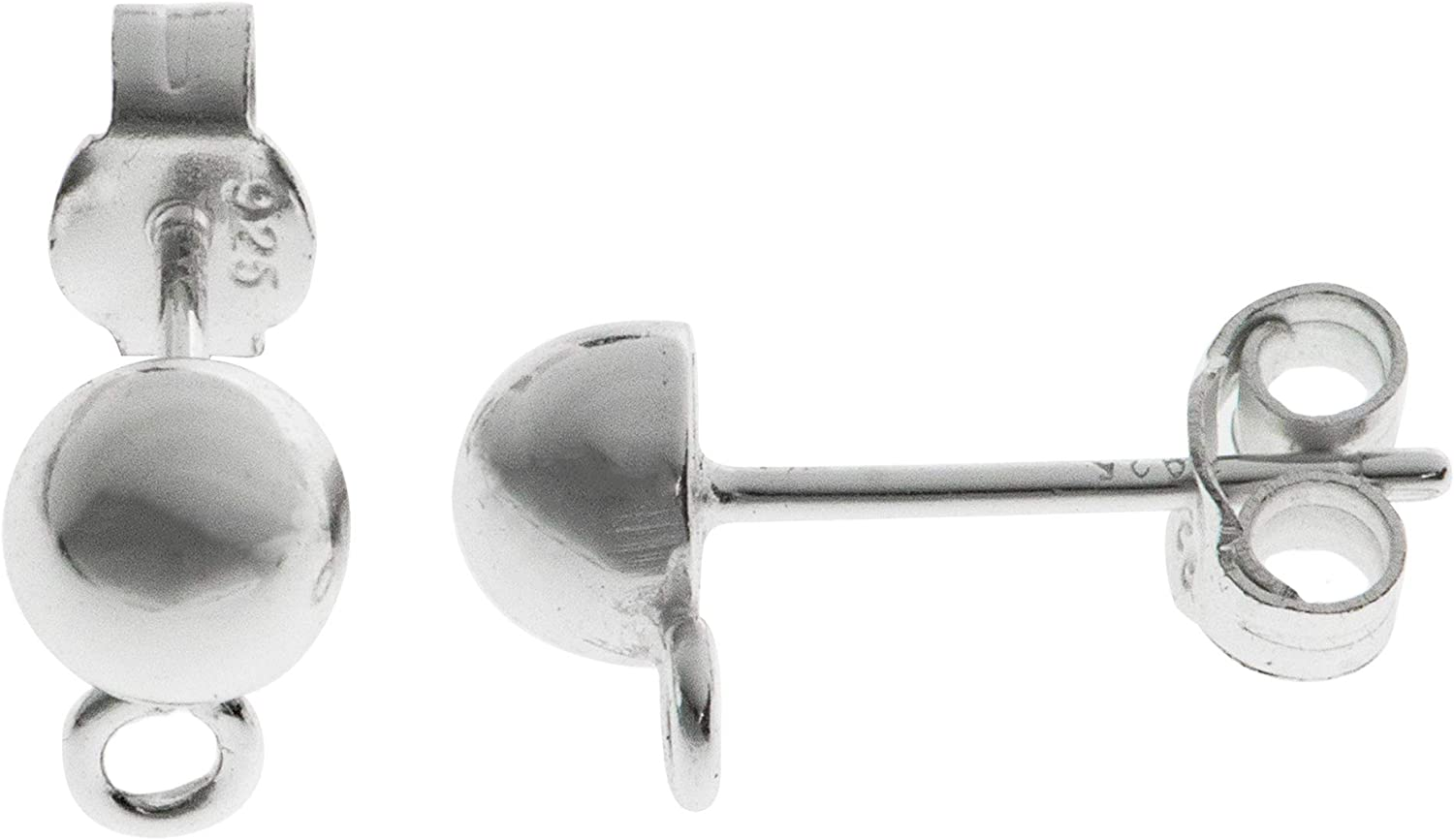 Select Colors Antique Round Stud 925 Sterling Silver Post Earrings