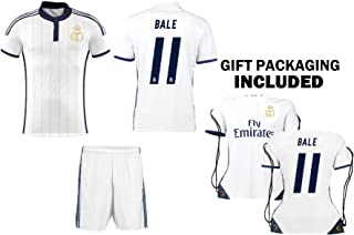 Fanatics Kitbag Bale Real Madrid Soccer Jersey #11 Youth Short Sleeve Kit Shorts Kids Gift Set